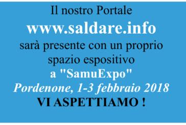 """""""www.saldare.info"""" con un proprio spazio espositivo a SAMUEXPO 2018. Vi aspettiamo!"""